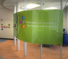 Branded space divider and quote wall