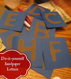 Do-It-Yourself Sandpaper Letters!  Great for practicing handwriting and letter recongition #literacy #frugal