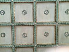 Ceiling detail in master bedroom of a David Adler house.