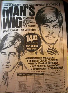 Natural Wigs, Magazine Ads, Knowing You, Stuff To Buy
