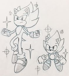 Dark Sonic, Sonic And Amy, Cartoon Pencil Drawing, Pencil Drawings, How To Draw Sonic, Sonic The Hedgehog, Baby Disney Characters, Human Body Drawing, Classic Sonic