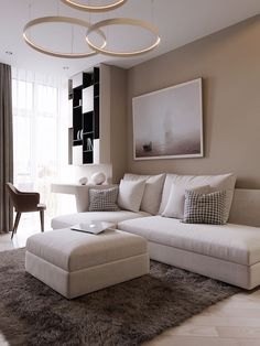 Ideas For Apartment Living Room Decor Layout Rugs Apartment Layout, Apartment Interior, Apartment Living, Apartment Design, Living Room Decor Cozy, Elegant Living Room, Bedroom Decor, Decor Room, Living Room Carpet