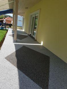 Terrasse mit Steinteppich Sidewalk, Windows, Patio, Stairway, Stones, Side Walkway, Walkway, Walkways, Ramen