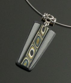 Tribal Necklace  Polymer Clay Jewelry  Art by mindfulmatters, $23.00