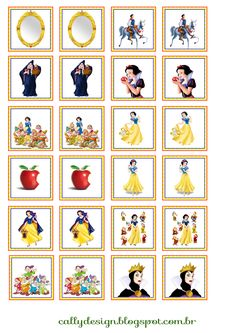 Card Games For Kids, Gifts For Kids, Fairy Tale Crafts, Fantasy Party, Snow White Birthday, Emoji Symbols, Family Movie Night, Memory Games, Disney Junior