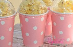 Minnie Mouse Birthday-Pink Polka Dot Party Cups-Popcorn Box-Set of 8 Minnie Mouse Theme Party, Minnie Mouse 1st Birthday, Minnie Mouse Baby Shower, 2nd Birthday Parties, Baby Birthday, Birthday Ideas, Polka Dot Party, Party Cups, First Birthdays
