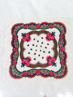 russian shawl   Vintage Wool ShawlRussian Scarf by PRESENTUA