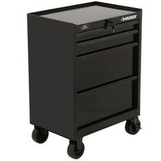 Husky 27 in. 4-Drawer All Black Tool Cabinet-H4TR2R - The Home Depot