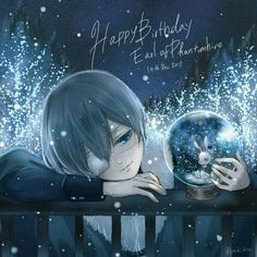 Happy Birthday Ciel! Black butler, Kuroshitsuji, Ciel Phantomhive credit to yu_ki _koo on twitter