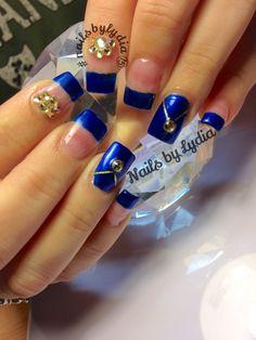 Royal blue with Swarovski