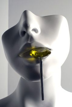 Emmanuel Lacoste. Object: Gourmandise (Gluttony), 2008 Citrin, white gold Photo by: Fassih Belmokhtar On display