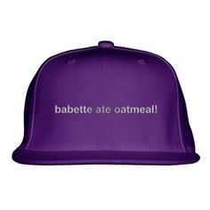 Gilmore Girls - Babette Ate Oatmeal Embroidered Snapback Hat