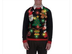 Ugly Holiday Sweater, Everything Christmas Sweater (Light Up)