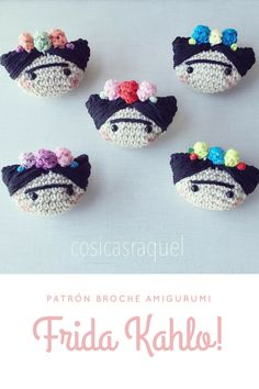 Crochet Gratis, Crochet Patterns Amigurumi, Cute Crochet, Knitted Dolls, Crochet Dolls, Crochet Hair Accessories, Crochet Brooch, Crochet Videos, Crochet Home