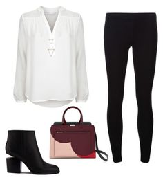 """""""black, white & pop color"""" by andy-ag on Polyvore featuring James Perse, Diane Von Furstenberg and Alexander Wang"""