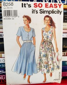 1992 Simplicity It's So Easy Pattern  by PaperWardrobesEtc on Etsy