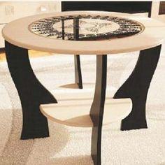 Журнальный стол с круглым стеклом купить в Екатеринбурге| Мебелька