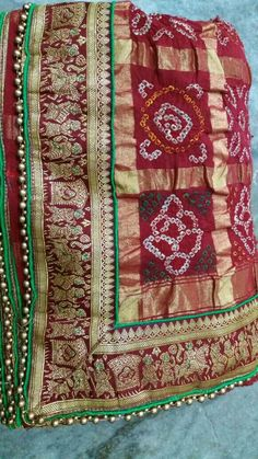 Bandhani saree Gharchola only @heritageofvanza for more info call or whatsapp us on 9978999918