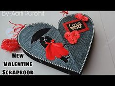 Hello FAM Heres a new Valentines Day Scrapbook Tutorial For U all Most Requested Tutorial Is Here, For Any queries or questions comment below the link. Best Valentine Gift, Valentine Day Special, Valentine Crafts, Valentine's Day Special Gifts, Handmade Anniversary Gifts, Valentines Day Drawing, Birthday Gift Cards, Paper Quilling Designs, Diy Scrapbook