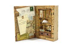 Paper Sculpture, Book Sculpture, Items model book, Paper art, Craft paper, Handmade book Journal, Books Art, Vintage book-Story memory