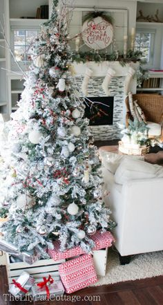 Knitted snowballs and mitten ornaments will make your tree extra cozy. Get the tutorial at The Lily Pad Cottage.  - WomansDay.com