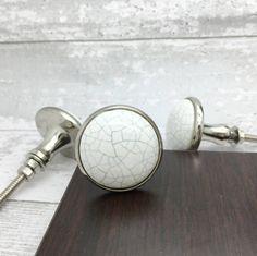 White Gold Silver Ceramic Cupboard Door Knobs | Cupboard knobs, Door ...
