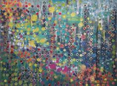 "Saatchi Art Artist Wendy Harris-Bowman; Painting, ""Jeweled"" #art"
