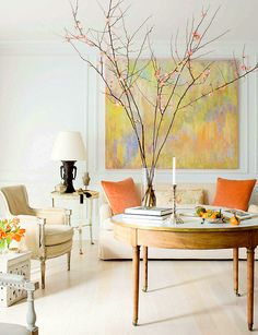 pretty space, colors and a Robert Rea painting