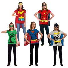 Mujer superhéroe Trajes Camiseta Adulto Halloween Vestido De Lujo