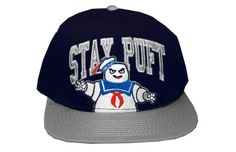 Ghostbusters Stay Puft Marshmellow Man Movie Adult Snapback Flat Bill Hat Cap. Available at 2bhip.com