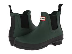 Hunter Original Two-Tone Chelsea Forest Green - Zappos.com Free Shipping BOTH Ways