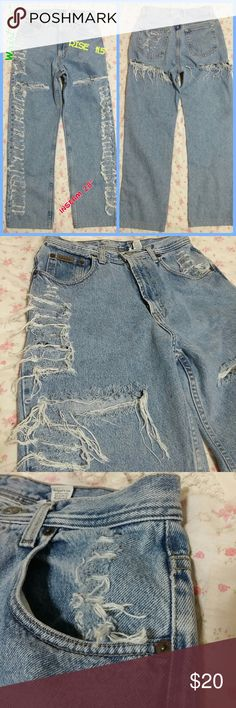 Calvin Klein Boyfriend Distressed Denim Jeans sz29 These are the cutest comfiest jeans ever! They are high waisted jeans & I can't wear them & believe me it's a sacrifice cuz I really luv these jeans. Measurements are listed in the first pic. Calvin Klein Jeans Jeans Boyfriend