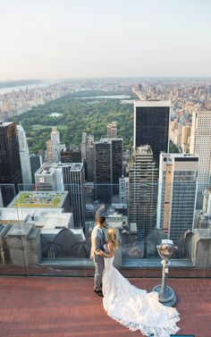 This Toronto Raptor and his model fiancee tied the knot in a beautiful celebration atop Rockefeller Center.