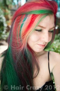 multi colour christmas hairstyles multicolored hair colorful hair dye my hair