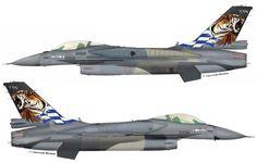 """F-16C from 335 Mira""""Tigris (Tigers)"""", Hellenic Air Force - HAF. Tiger Meet 2014. AB Araxos. January 2014."""
