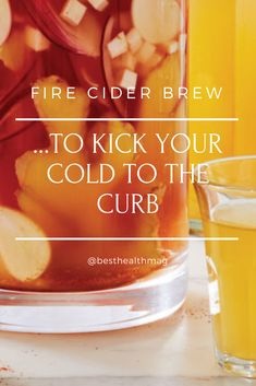 This fire cider brew is the perfect concoction to get you through the winter. Hangover Remedies, Vegan Vegetarian, Natural Remedies, Brewing, Herbs, Stuffed Peppers, Cold, Recipes, Stuffed Pepper