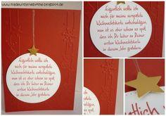 made with love by kme: Gratulation zur ersten Weihnachtskarte #1