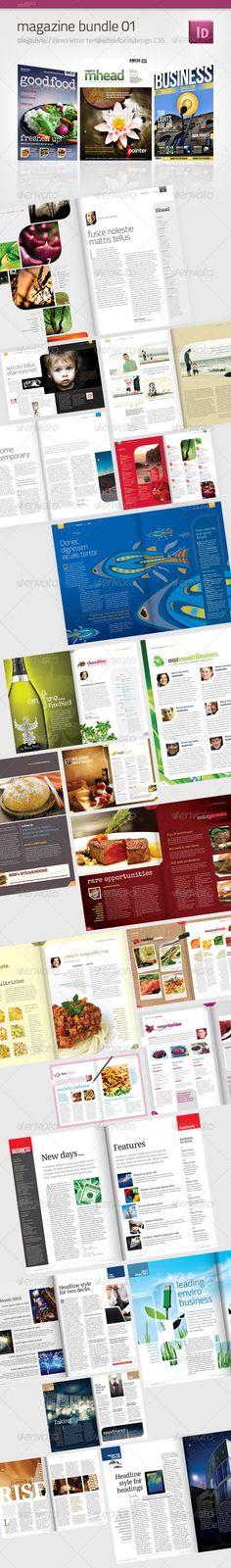 Magazine Bundle 01 - Magazines Print Templates