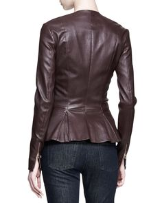 Brown Peplum Jacket