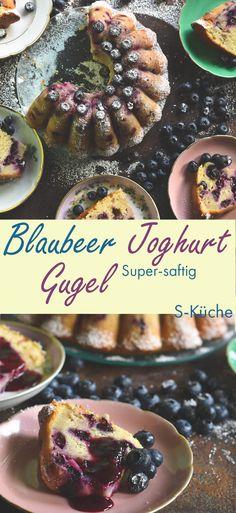 Rezept für supersaftigen Blaubeer Joghurt Guglhupf. Sehr schneller und leichter Sommer-Napfkuchen