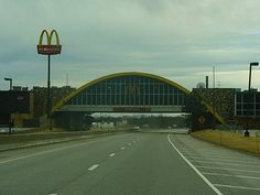 http://www.TravelPod.com - World's Largest McDonald's  by TravelPod member Pendemonium, from Shamrock, United States ... This over the road McDonald's is touted as world's largest.  It spans the Will Rodgers Tpke in Oklahoma
