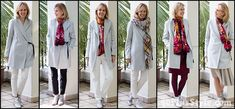 Here is the roundup of many outfits from the capsule wardrobe for winter. I hope it shows you that a minimal wardrobe need not be boring Over 60 Fashion, Over 50 Womens Fashion, Star Fashion, Fashion Outfits, Fall Capsule Wardrobe, Capsule Outfits, Fashion Capsule, Stylish Outfits For Women Over 50, Clothes For Women