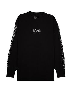 1b0d7072be Polar Skate Co. Лонгслив Racing Longsleeve Tee Black Черный Skate