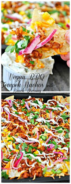 Vegan BBQ Tempeh Nachos