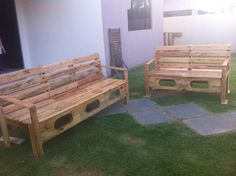 Pallet Patio Sitting Benches Or Sofas