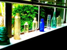 Old Glass Bottles by M.E.