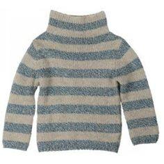 Kidscase Heavy Knit Striped Turtle Neck Sweater. On sale!