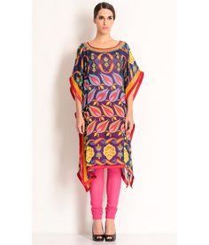 Manish Arora Multi Colored Kaftan With Large Prints., http://www.snapdeal.com/product/manish-arora-multi-cotton-kaftan/988330647