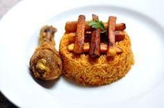 jollof rice - Miss Beckham - jollof rice jollof rice - Jollof Rice Nigerian, Nigerian Food, Jollof Reis, Rice Recipes, Healthy Recipes, Recipies, Liberian Food Recipe, West African Food, Food Garnishes