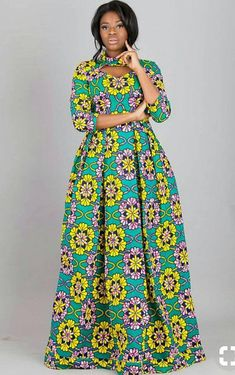 16 20 Gorgeous Ankara Gown Styles & Ideas On How To Wear Them Ankara Long Gown Styles, Latest African Fashion Dresses, African Dresses For Women, African Print Dresses, African Print Fashion, African Attire, Ankara Styles, Ankara Gowns, Long Ankara Dresses